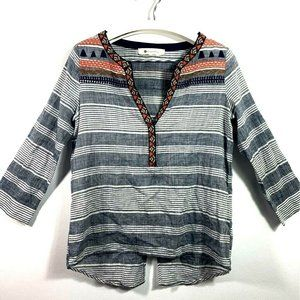 Anthropologie The Impeccable Pig Womens Shirt Gray